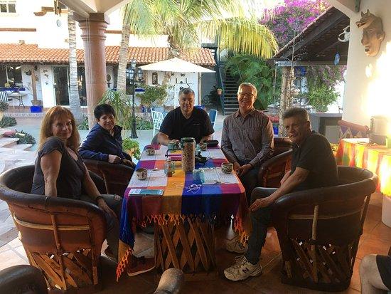 Hacienda Paraiso de La Paz Bed and Breakfast/Inn: Great time each morning