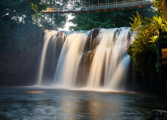 Mena Creek, Australia: Jose非常喜歡瀑布,他就是看上這個瀑布於是在周遭興建城堡公園,他還透過自己的巧思,讓城堡內很多地方都可以看到瀑布