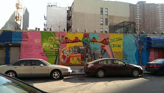 X art images for Malcolm x mural