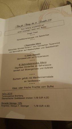 Romantik Hotel Zell am See: De menukaart voor één avond