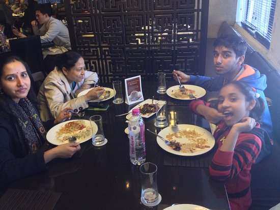 family gathering at table