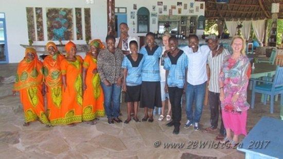 Our 'Zanzibar family' at Ras Michamvi