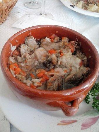 Restaurant du marche : la cassolette de tete de veau