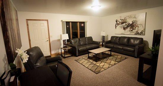 Arcadia, WI: Village Suite Living Room