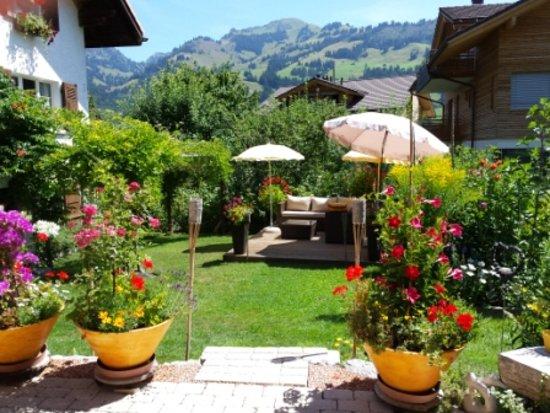 Zweisimmen, Svizzera: Lounge/ Garten