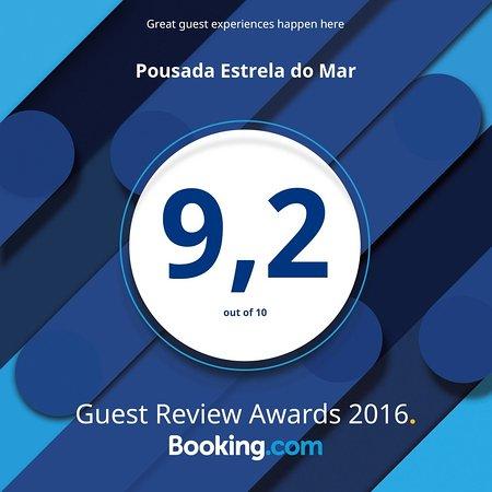 Caraiva, BA: Ganhamos esse importante prêmio da Booking.com! Obrigado à todos os hóspedes queridos..