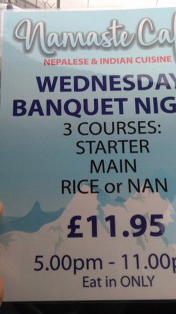 Torpoint, UK: Attention!!!!!                  We are providing three course meal for £11.95 only on wednesday