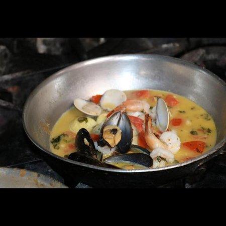 Old Saybrook, CT: Seafood Dish being prepared