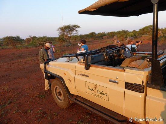 Madikwe Game Reserve, แอฟริกาใต้: Auf Safari - Vorbereitung zum Sundowner