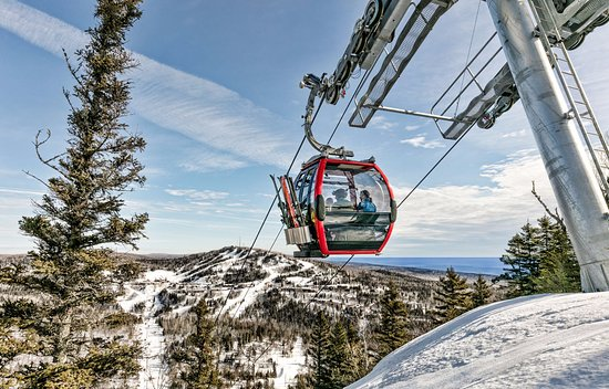 Lutsen, MN: The Summit Express Gondola is walking distance from your room