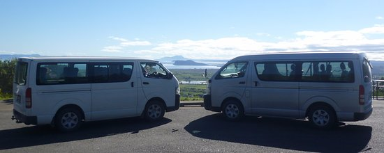 Turangi, New Zealand: Small family business with 2 x 9 seats Toyota Vans for your transport services