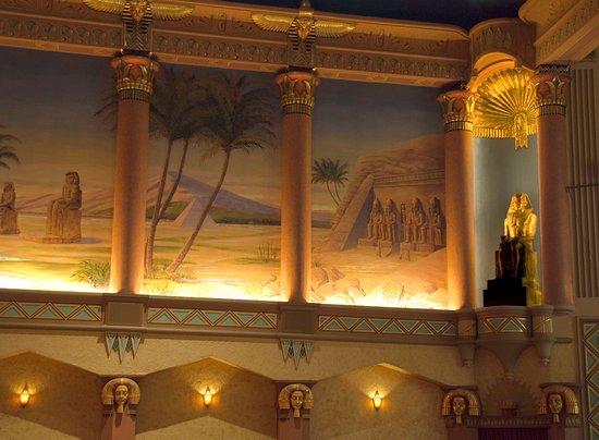 Egyptian Theatre: Photo of murals in the auditorium.