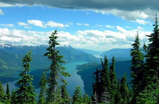 Kaslo, Canada: A view of one of our lakes in July.