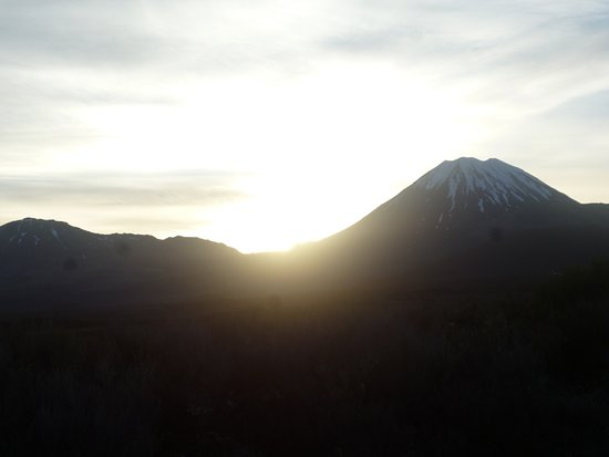 Turangi, New Zealand: Sunrise coming up with Mt Ngauruhoe AKA Mt Doom