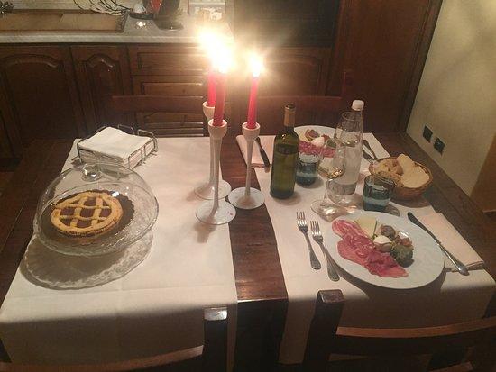 Lorenzana, Italia: cena romantica