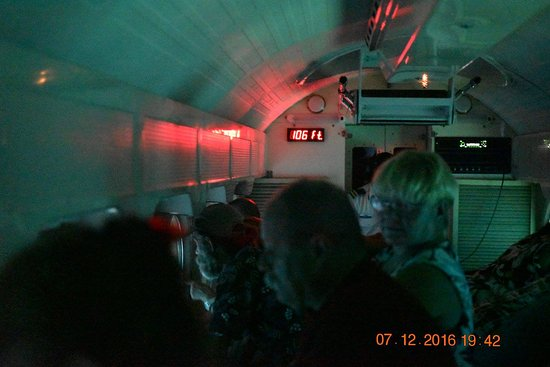 George Town, Grand Cayman: inside the submarine