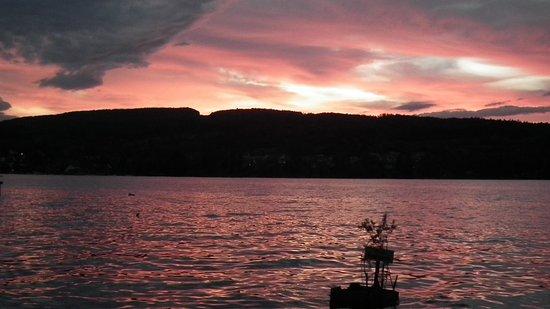 Steckborn, Suiza: Die Sonnenuntergänge am See sind legendär.