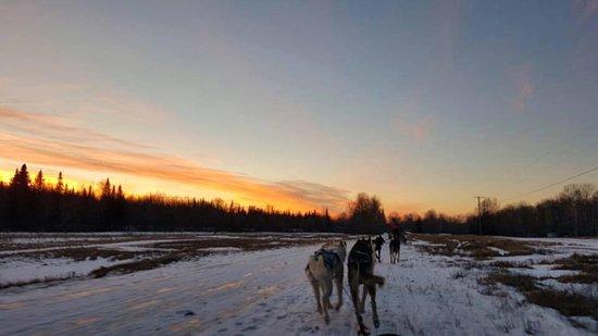Jefferson, Nueva Hampshire: Our return at sunset
