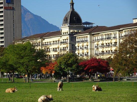 Thun, Svizzera: Para los amantes del lujo este hotel Victoria en Interlaken con vistas fabulosas y servicio 5 es