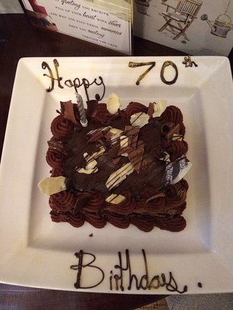 Guisborough, UK : The surprise 70th birthday chocolate cake for my husband.