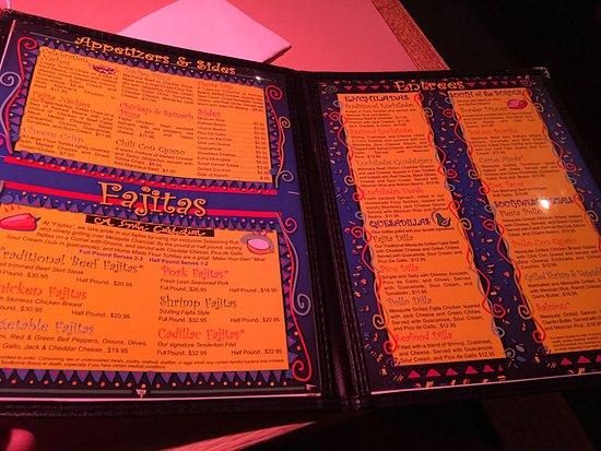 Fajitas a Sizzlin Celebration: Menu