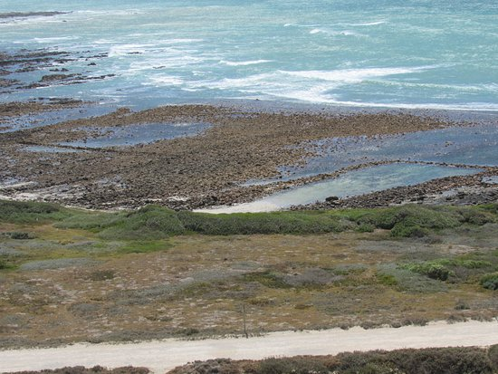 Cape Agulhas, South Africa: View of traditional Khoi fishing pools