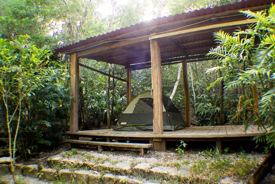 Calakmul, Mexiko: área de camping