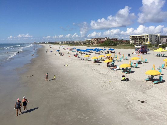 Atlantic ocean isn 39 t it beautiful picture of cocoa for Cocoa beach pier fishing