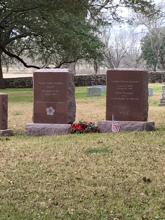 Stonewall, TX: Lady Bird and LBJ headstones
