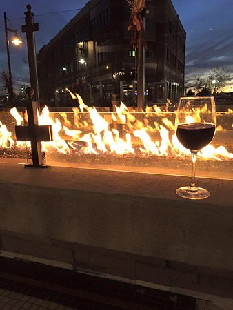 Hingham, MA: drink by the outside fire pit