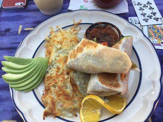 La Cruz de Huanacaxtle, เม็กซิโก: Best Breakfast Burrito EVER!