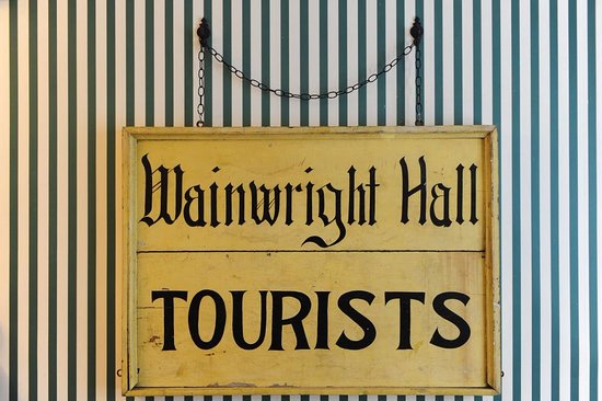 Wainwright Inn: Original sign from 1800s
