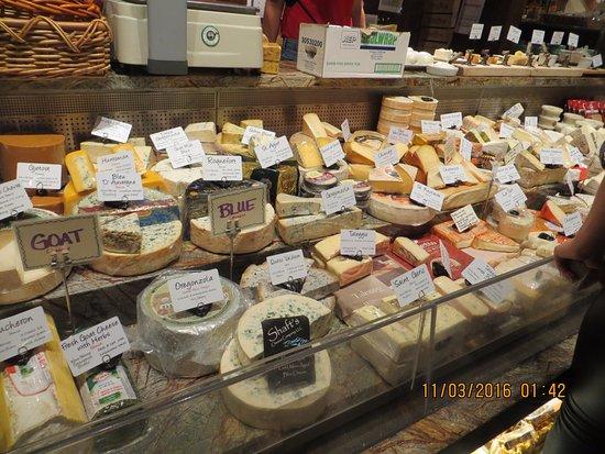 St. Helena, Καλιφόρνια: cheese selection