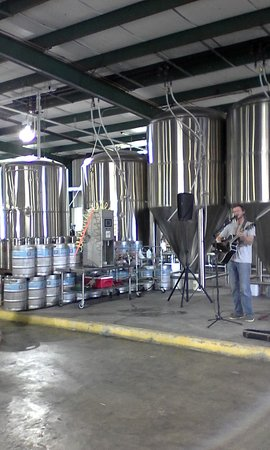 Hammond, LA: A local musician entertains at Gnarly Barley