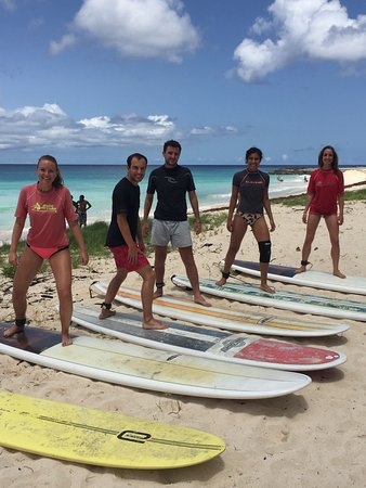 Christ Church Parish, Barbados: Surf school @brandons Matthew Kydd instructing