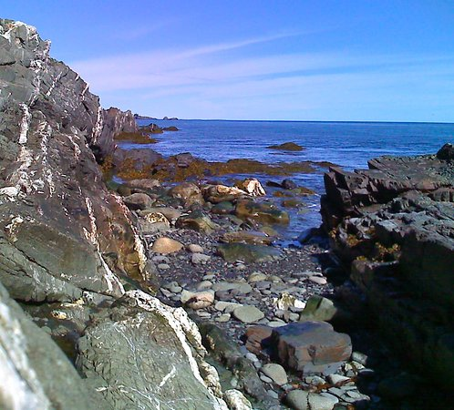Lubec, Мэн: Access to the tide pools at Quoddy Head State Park, Maine