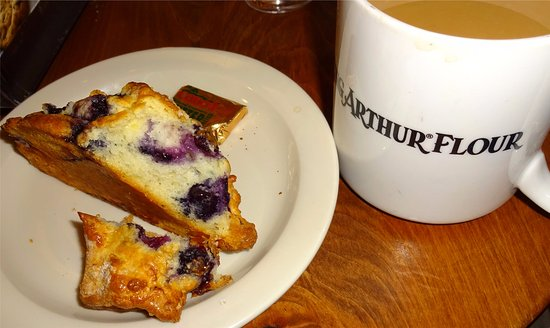 King Arthur Flour: The Baker's Store and Baking Education Center: Blueberry scone and coffee - bliss.