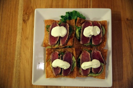 "Garrison, Estado de Nueva York: Seared Tuna ""tostadas"""