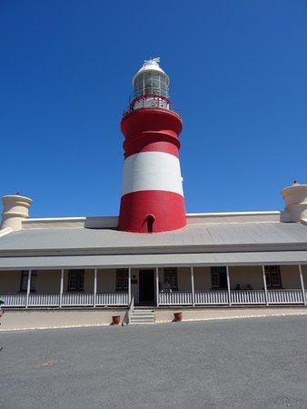Der Leuchtturm von Cape Agulhas - kann man besteigen!