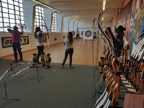 Anklam, Tyskland: La sala de tiro al blanco de Bogensportwelt