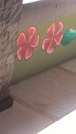 Pousada Hibiscus Beach: Detalle ornamental típico de la posada (Flor de Hibiscus)