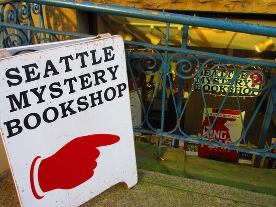Seattle Mystery Bookshop: Our front window!