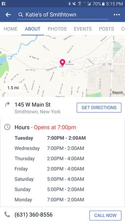 Smithtown, NY: their hours of operation