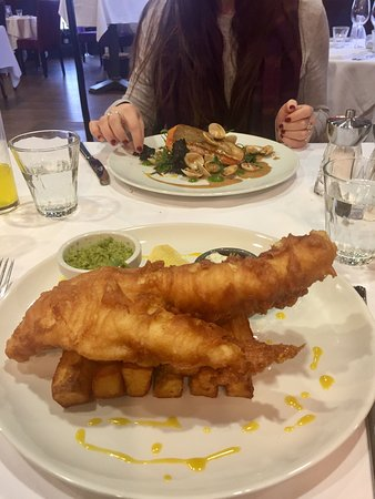 Staddlebridge, UK: Sea Trout with Clams - Cod and Chips = awesome