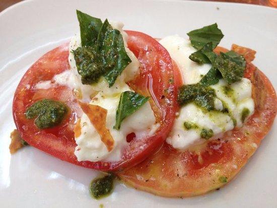 Ca' Momi Osteria: Caprese Organic herloom tomatoes, buffalo mozzarella and fresh Basil ($12)