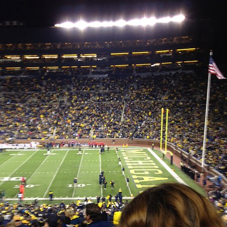 Ann Arbor, MI: Inside Michigan Stadium.
