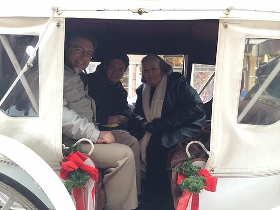 Saint Charles, MO: Enjoying the Carriage Ride down Main Street during Christmas Traditions.
