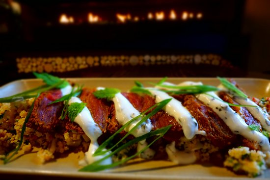 Pub On Wharf: Lamb Backstrap with Spiced Cous Cous available for Brunch through till 4pm