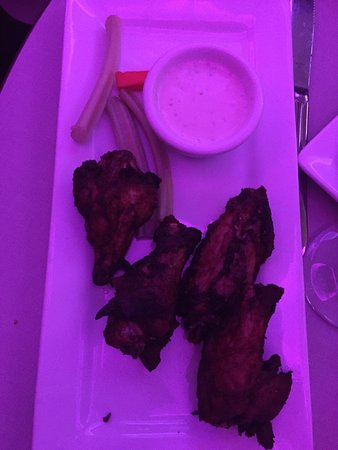 Seachasers Lounge: Wings sent back because they were burnt.  They brought another order of burnt wings. Wings used