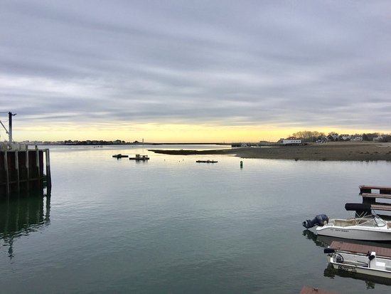 Scituate, MA: View from the back deck, late fall after most of the boats are out of the water
